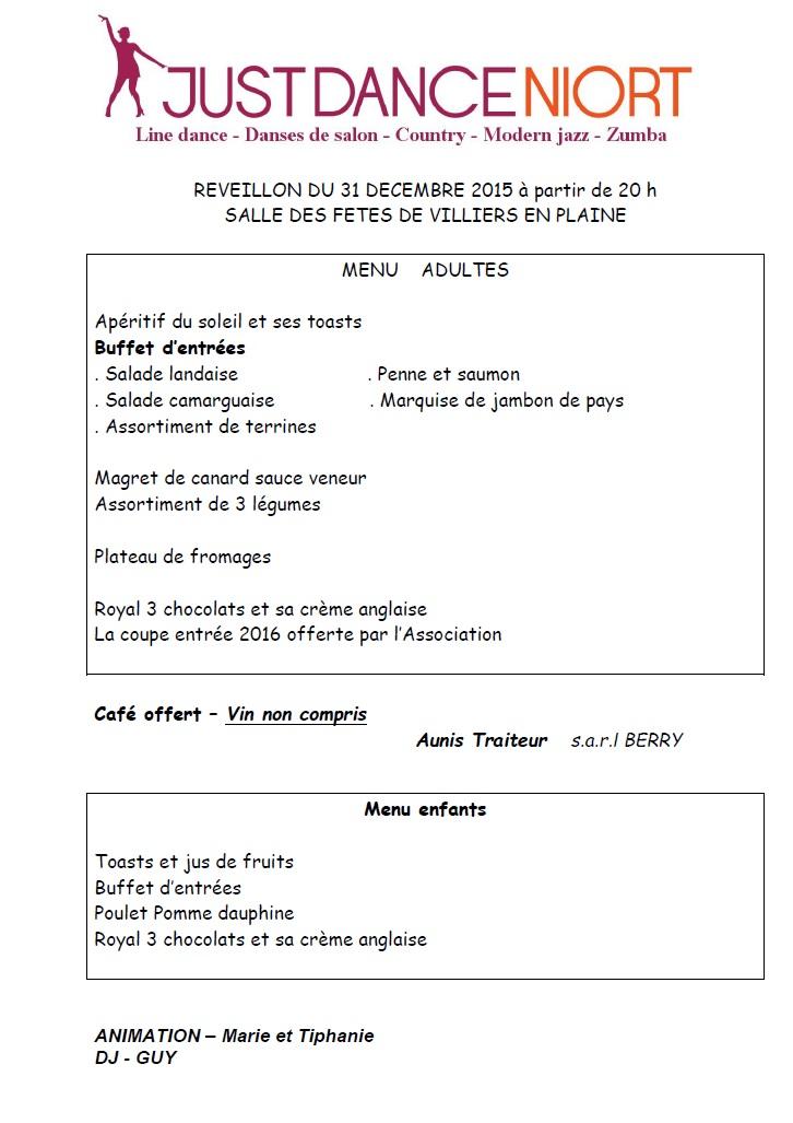 R veillon jeudi 31 d cembre association justdanceniort - Idee reveillon 31 decembre ...
